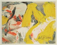 man and the big blonde by willem de kooning