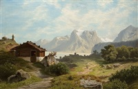 am achensee by theodor (wilhelm t.) nocken
