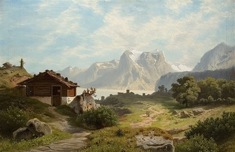 am achensee by theodor wilhelm t nocken