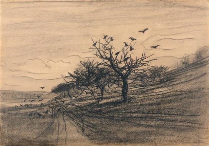 larbre aux corbeaux by charles françois daubigny