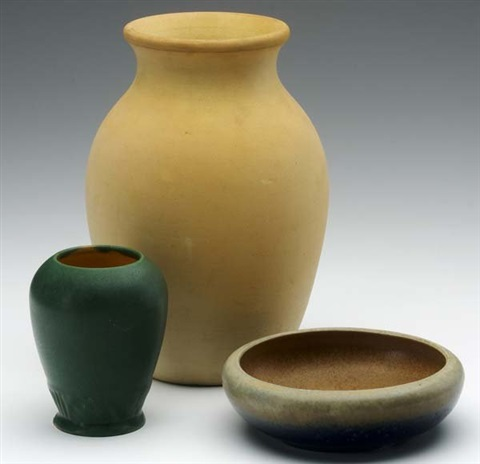 bowl 2 others 3 works by grand feu art pottery