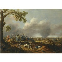 the battle of lützen, with gustav ii adolf of sweden by jan asselijn