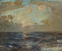 st. ives: golden dawn by julius olsson