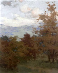 autumnal landscape by mary augusta hiester reid