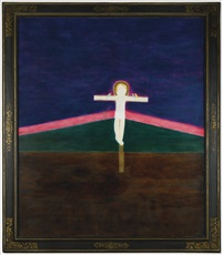 crucifixion 8 by craigie aitchison