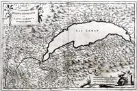 ducatus chablasius et lacus lemanus (from theatrum statuum regiae celestudinis sabaudiae ducis) by johannes de broen