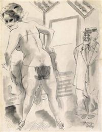 burlesque show, new york by george grosz