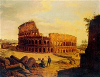 a view of the colosseum, rome by jacob george strutt