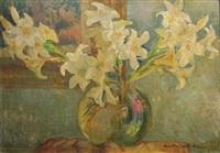 white lilies by vera veslovschi nitescu