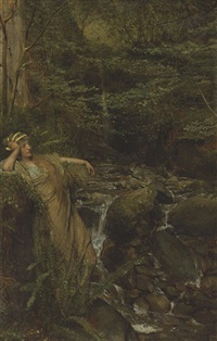 reverie (waterfall nymph) by sir lawrence alma-tadema