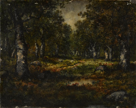 a forest interior by narcisse virgile diaz de la peña