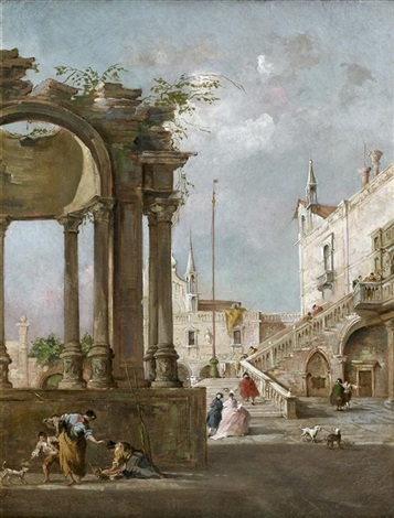 vue fantaisiste de venise by francesco guardi