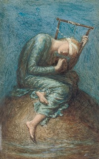 hope (after george frederic watts) by mary seton