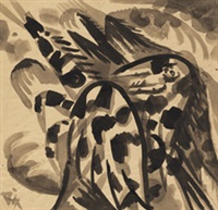 gefleckter pegasus by otto dix
