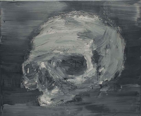 crâne by yan pei ming