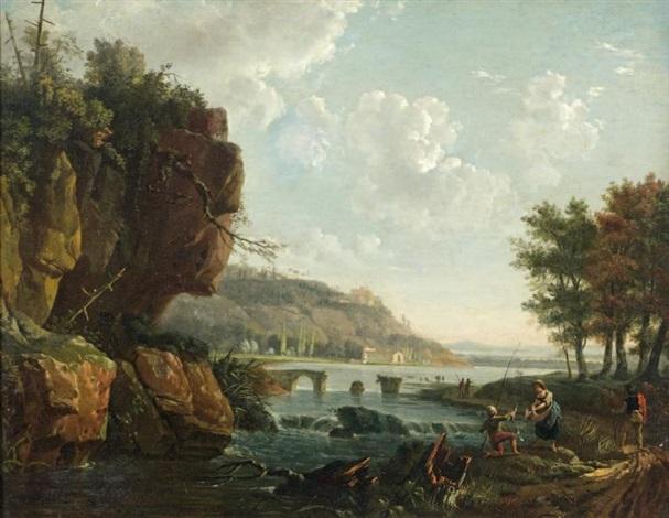 paysage aux pêcheurs by p le corre