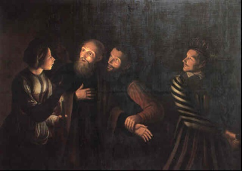 the denial of st peter by georges de latour