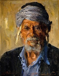 portrait of yemenite jew by ludwig blum