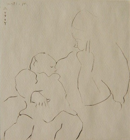 nursing baby by milton avery