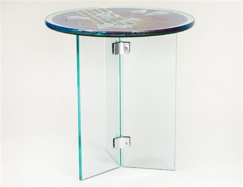 Awe Inspiring Joan Irving Acid Etched And Cut Art Glass Table By Joan Ibusinesslaw Wood Chair Design Ideas Ibusinesslaworg