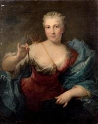 portrait de femme en diane by louis richard françois dupont