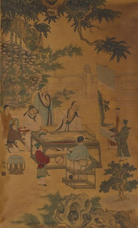 gathering of scholars by wen zhengming