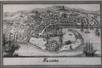 a bird's-eye view of the city of messina by francesco zucchi the younger