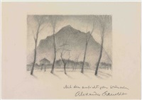 berglandschaft by alexander kanoldt