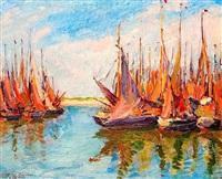 bateaux de pêche à zeebrugge by mikhail nikolaevich yakovlev