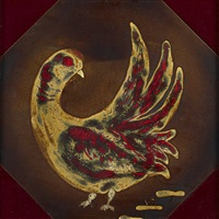 untitled (bird) tile by werber jacobsen