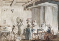 la toilette des dames de compagnie by niklas lafrensen the younger