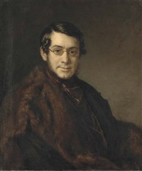 portrait of a gentleman wearing glasses by vasili andreevich tropinin