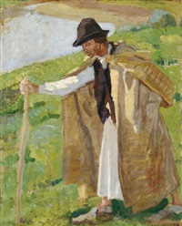 shepherd by adolf fényes