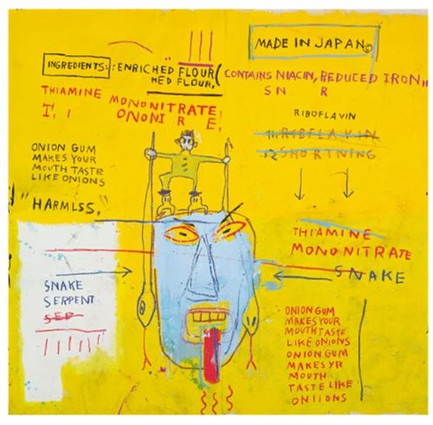 onion gum by jean michel basquiat