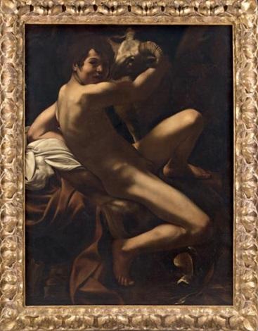 jeune homme au bélier by michelangelo merisi da caravaggio