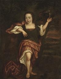 portrait of a young boy, in classical dress by abraham lambertsz jacobsz van den tempel