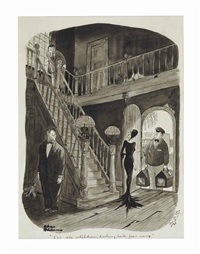 addams family: it's the children, darling, back from camp by charles addams