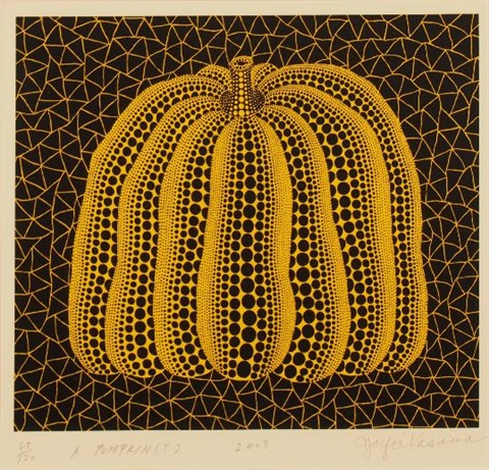 a pumpkin (y) by yayoi kusama