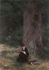 a woodland encounter by wilhelm simmler
