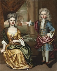 portrait of a brother and sister by jan van der haagen