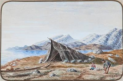 from a greenlandic settlement by carl jens erik c rasmussen