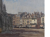 rue de la boucherie with st. jacques by walter richard sickert