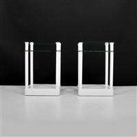 two-tiered nightstands/end tables (pair) by grosfeld house