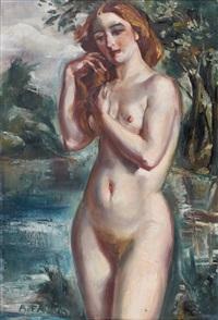 la jeune baigneuse by andré favory