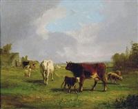 vaches au pré by andré cortes