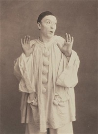 paul legrand as pierrot by nadar