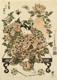 segawa kichiji ii (benizuri-e) by ishikawa (nishimura shigenobu) toyonobu