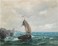 storm on the sea by eugen (cean) voinescu