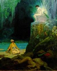 adoration de la déesse au paon by rené lelong