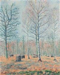 sous bois dans les marais de giverny, lumière d'automne by blanche hoschedé-monet